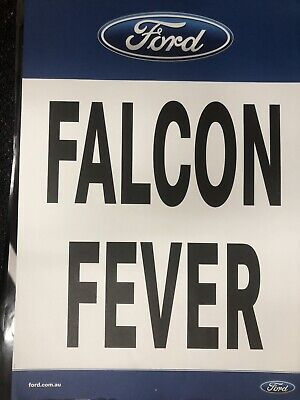 FORD OFFICIAL FALCON  FEVER V8SUPERCARS  POSTER EC Great For Mancave