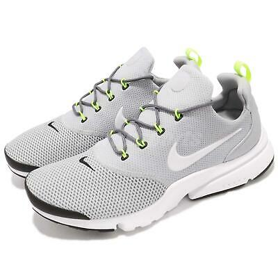 timeless design f4a46 3e280 Nike Presto Fly Grey White Volt Black Men Running Shoes Sneakers 908019-013