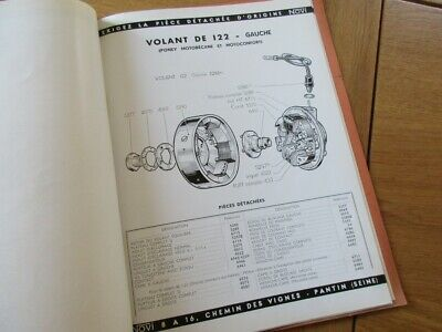 Catalogue General Novi Piece Volant Moteur Mobylette Motobecane Motoconfort 1954
