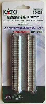 "Kato 20-023 Double Track 124mm (4 7/8"") Straight track WS124PC (N scale)"