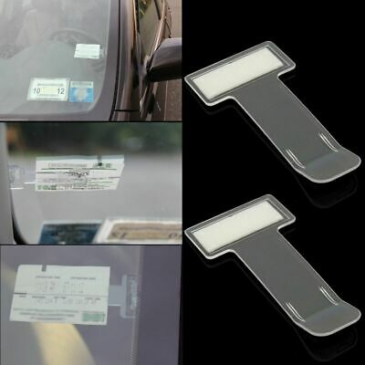 Windscreen Window Kit Ticket Permit Holder Clip Sticker  Car Vehicle Parking