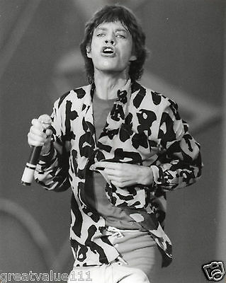 The Rolling Stones Photo Mick Jagger 1982 Huge Vintage Unique Image Unreleased