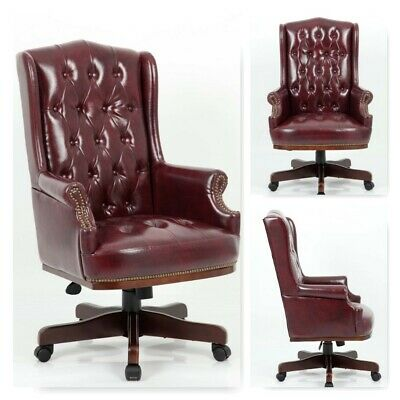 Astounding Chesterfield Executive Managers Office Desk Leather Computer Andrewgaddart Wooden Chair Designs For Living Room Andrewgaddartcom