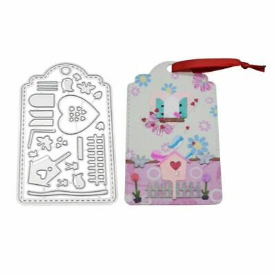 Card Tag Cutting Dies Stencil DIY Scrapbooking Album Paper Card Embossing Craft