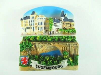 Luxembourg Luxembourg Grand 3d AIMANT,Polyresin Souvenir,Neuf