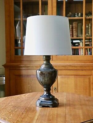 Impressive classical Rochamp bronze baluster / urn table lamp - New shade 25""