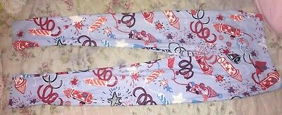 LuLaRoe TWEEN GIRLS SIZE 10/12 AMAZING FIREWORK 4TH OF JULY LEGGINGS