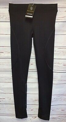 Paulo Connerti Womens Vicki Elegant Slim Return Leggings Black Size M/L 38/42