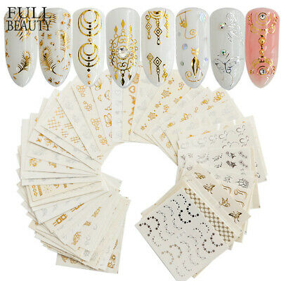 30x Nail Stickers Water Decals Transfers Flower Dream Catcher Feathers Butterfly