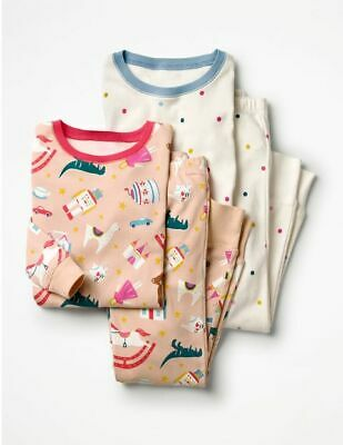 NEW Mini Boden Twin Pack Long Johns Pyjamas - Pink Toys / Polka 12 (11, 10)