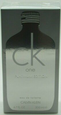 CK One Platinum Edition by Calvin Klein for unisex EDT 6.7 oz 6.8 New IN Box