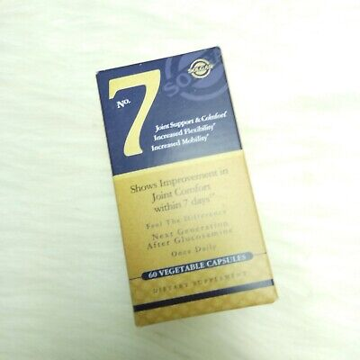 SOLGAR No.7 Joint Support & Comfort Within 7 Days, 60 Vegetable Capsules EXP8/20