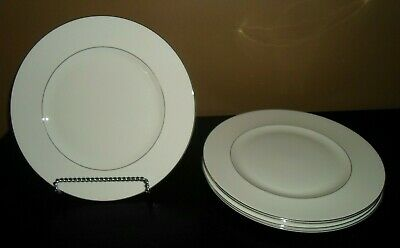 "(5) Wedgwood Bone China SIGNET PLATINUM  10 3/4"" Dinner Plates    England"