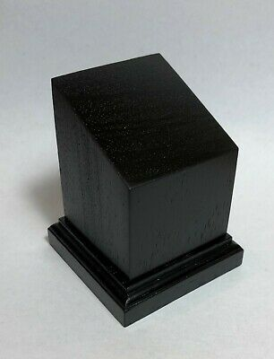 BASETTA BASE IN LEGNO MOGANO PER BUSTI - PLINTH DISPLAY WOOD BASE 5x5 h6 NERA