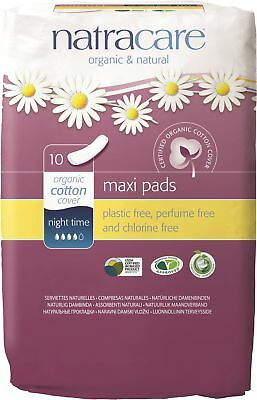 Natracare - Night-Time Maxi Pads - 10 count