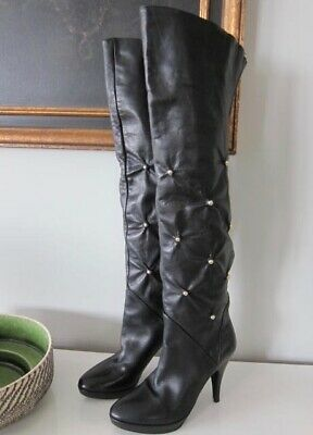 c675956d50a LE SILLA HIGH HEEL BLACK SUEDE OVER THE KNEE BOOTS. Size EUROPE 39.