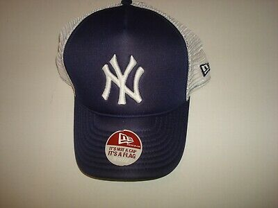 40e550ca0d3be New York Yankees New Era Deadstock Vintage 90S Script Hat Cap Fitted 7 1 2