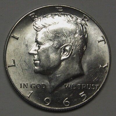 1965 John F Kennedy Silver Half Dollar Choice BU Condition Not SMS         DUTCH