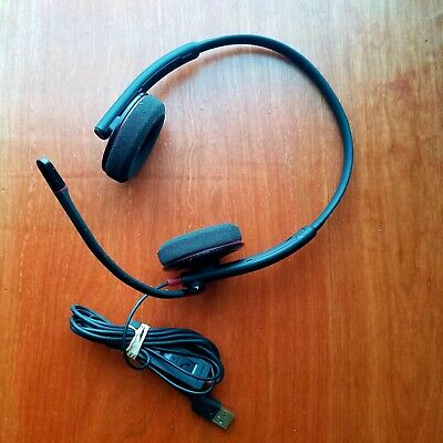 4570e7365b1 PLANTRONICS BLACKWIRE C320 M Black Headband Binurial USB PC Headset ...