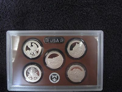 2012 S Clad Proof America The Beautiful Quarter Set with No Box or COA