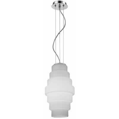"Paris Prix - Lampe Suspension Verre ""britt"" 30cm Blanc"