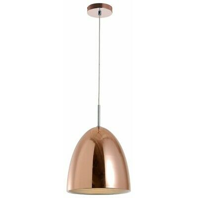 "Paris Prix - Lampe Suspension Design Cloche ""mads"" 30cm Cuivre"