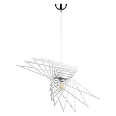 "Paris Prix - Lampe Suspension Design ""planet Iv"" 65cm Blanc"