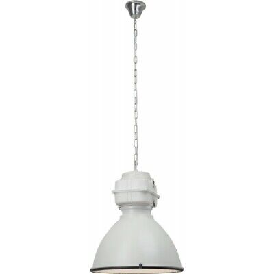 "Paris Prix - Lampe Suspension Industriel ""boston"" 47cm Blanc"