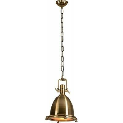 "Paris Prix - Lampe Suspension Industriel ""trinity"" 36cm Laiton"