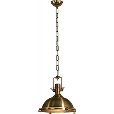 "Paris Prix - Lampe Suspension Industriel ""trinity"" 44cm Laiton"