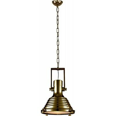 "Paris Prix - Lampe Suspension Industriel ""expiria"" 40cm Laiton"