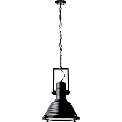 "Paris Prix - Lampe Suspension Industriel ""expiria"" 35cm Noir"