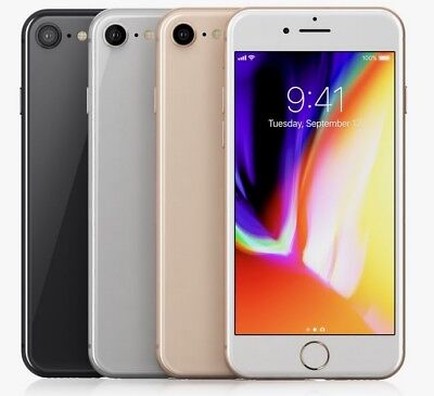 Apple iPhone 8 - 64GB 256GB GSM (FOR AT&T ONLY) Smartphone Cell Phone All Color