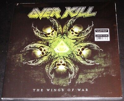 Overkill: The Wings Of War LP Green Yellow Splatter Color Vinyl Record 2019 NEW