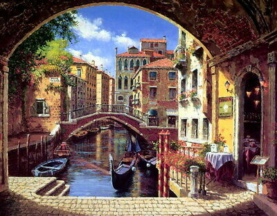 Wall Decor Print Beautiful Venice Oil painting Art Giclee Printed on canvas P063