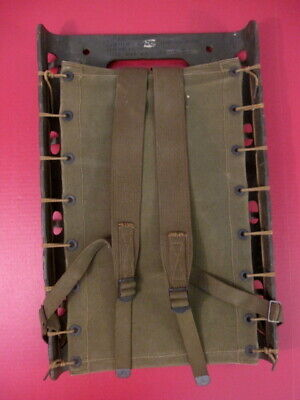 WWII Era US Army Plywood Packboard Complete w/Shoulder Straps - Dated 1944