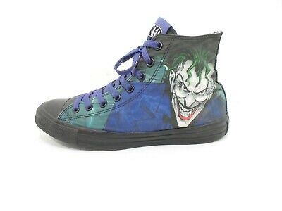 64206688b43b DC COMICS THE JOKER CONVERSE ALL STAR Sneakers - Shoe Size Mens 9 - Womens  11