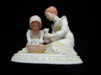Vintage Holly Hobbie Figurine A Mother's Love Is A Precious Gift