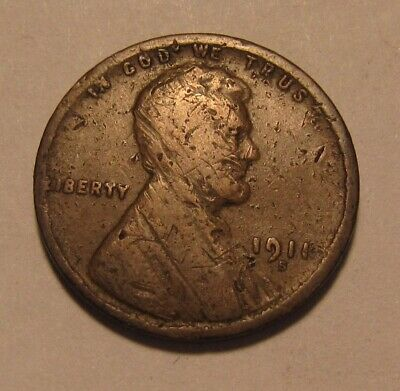 1911 S Lincoln Cent Penny - Damaged Condition - 5FR