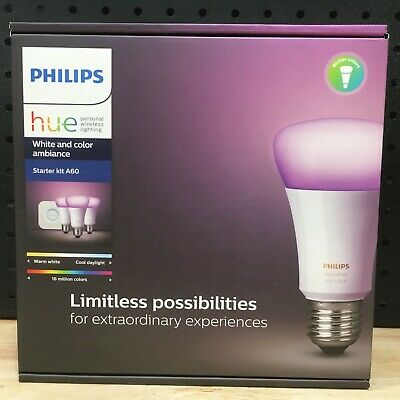 Philips Hue White And Colour Ambiance Bulb Starter Kit A60 - Brand New