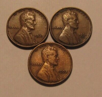 1931 1931 D 1932 Lincoln Cent Penny - Mixed Condition - 14FR