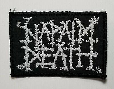 Napalm Death logo WOVEN PATCH
