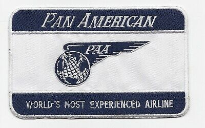 """Pan American Airways """"World's Most Experienced Airline"""" Luggage Label patch"""