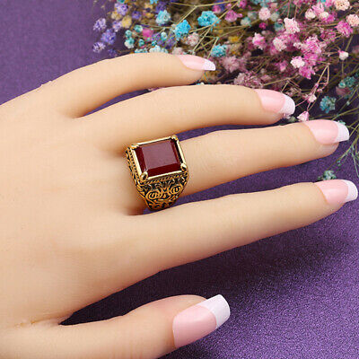 Male Multi-color Rings Men Filled Silver Resin Wedding Ring Jewelry Gifts BS