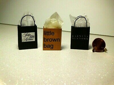 Dollhouse Miniature gift bags and wrapping paper set❤1:12 Scale by Wendy Howard