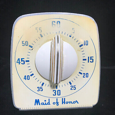 Vintage 40s 50s Metal Maid Of Honor Kitchen Timer Cooking Baking 15 00 Picclick