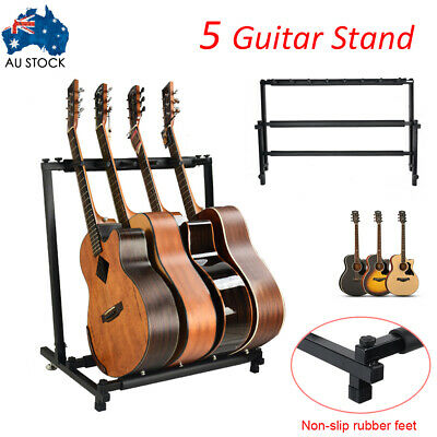 5 Guitar Rack Holder Stand Multiple Folding Acoustic Bass Display Storage AUS