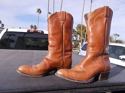9ebc859d19a USED TONY LAMA Brown Western Cowboy Boots Mens Size 10 1/2 D Style 5084