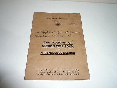 Ara Platoon Roll Book Dated 1955 Support Coy 5 Inf Battalion  M.m.g.platoon