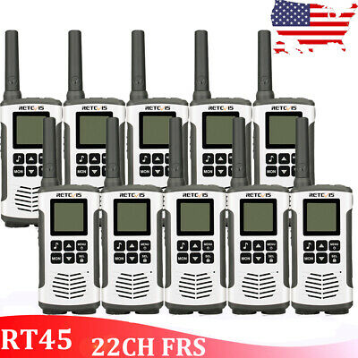 10XRetevis RT45 22CH FRS Walkie Talkies 2Way Radio Monitor License-Free Outdoor